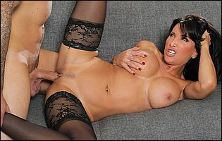 Lezley Zen in black nylons is getting a hard fuck