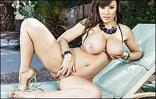 Lisa Ann likes teasing with hot body outdoor