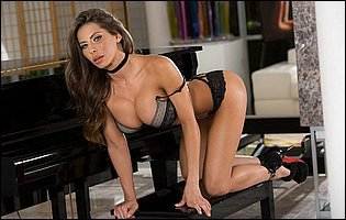 August Ames and Madison Ivy stripping for camera