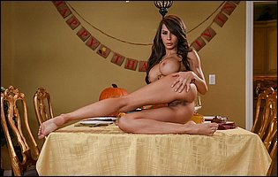 Gorgeous brunette Madison Ivy getting naked