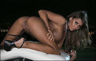 Madison Ivy in sexy high heels showing her gith body and pink cunt