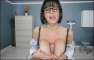 Doctor Veronica Avluv does some great cock riding and takes cum on her face