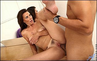 Mimi Moore takes big cock in her tight twat