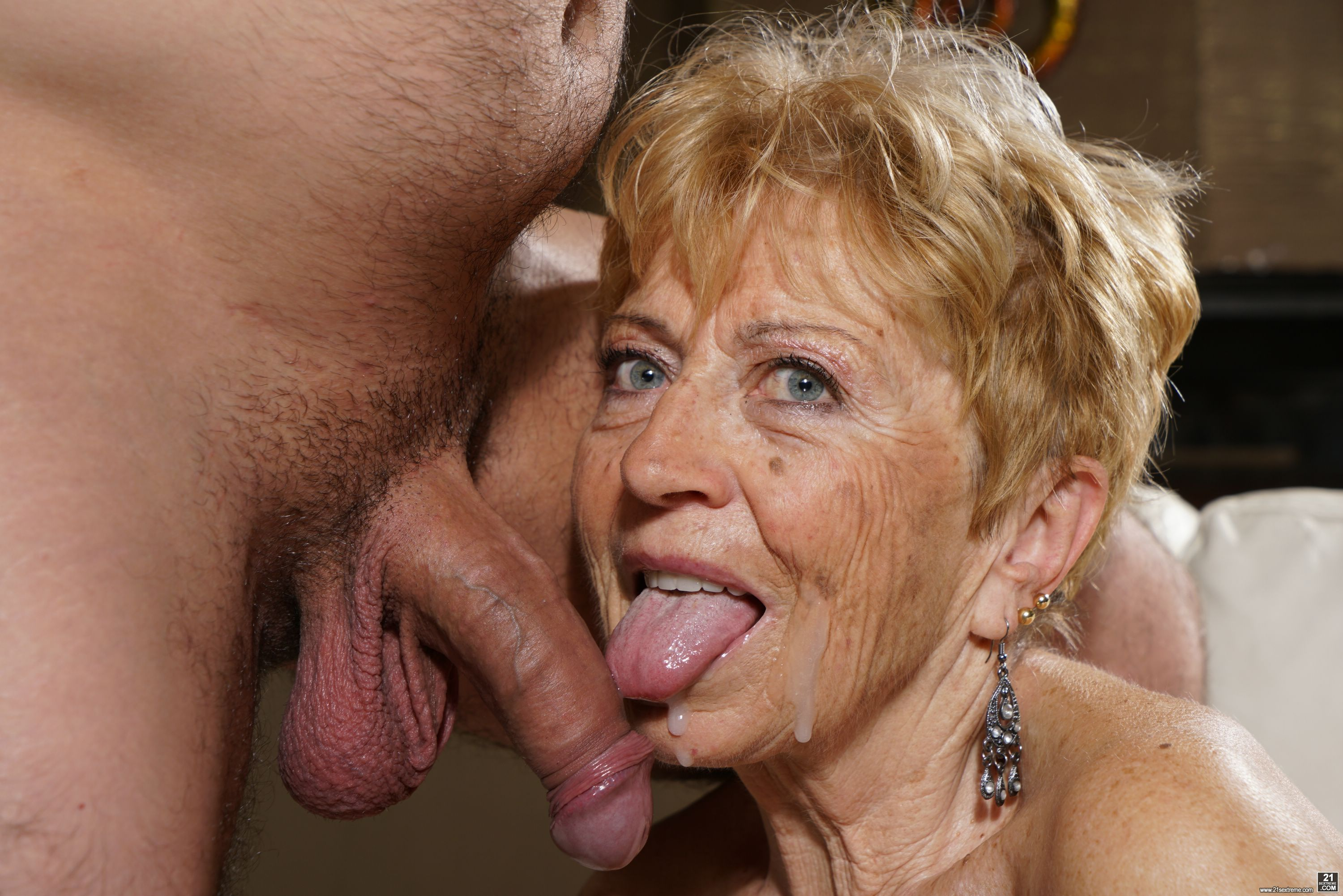 Grandmams presents young gigolo fucks horny granny
