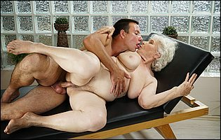 Granny Norma getting her hairy pussy fucked