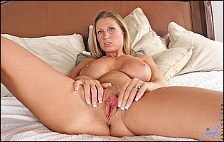 Naughty MILF Devon Lee showing off her pink twat