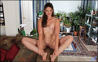 Sexy MILF Tiffany Owens getting nude in living room