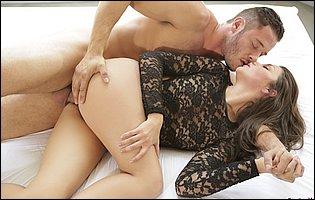 Beautiful babe Allie Haze is having a steamy sex
