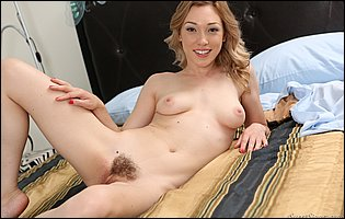 Gorgeous young babe Lily LaBeau getting nude for camera