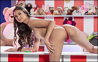 Beautiful young brunette Eliza Ibarra loves showing her fit body