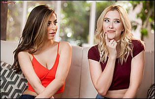 Nina North and Samantha Rone have lesbian fun
