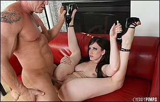 Jennifer White getting fucked rough in many positions and swallowing big load of cum