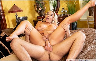 Classy blonde MILF Kylie Kingston gets banged in many positions by young muscular guy