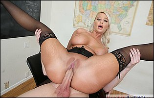 Professor London River gets banged hard in many positions by horny student