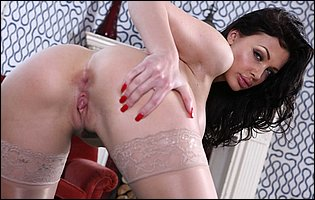 Aletta Ocean in sexy nylons and high heels loves teasing with hot body