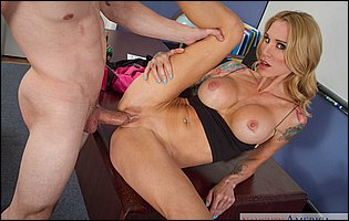 Professor Sarah Jessie gets her pussy filled with big hard cock