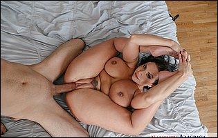 Gorgeous big titted MILF Sheridan Love enjoying hot sex with her young lover