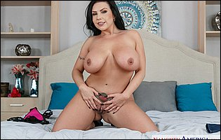 Beautiful busty mom Sheridan Love loves showing her hot body