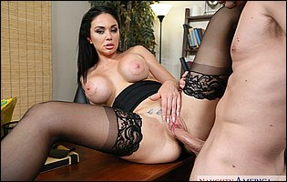 Brooke Beretta getting fucked hard by her co-worker in the office