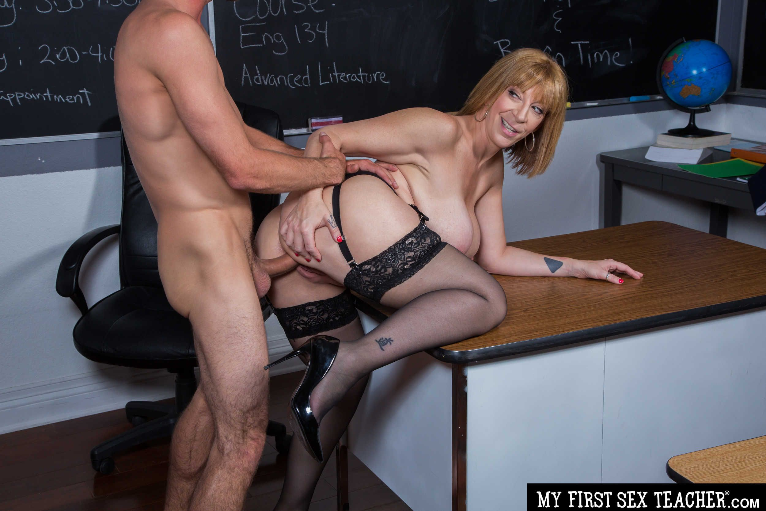My first sex teacher mrs carmen hayes and first huge gay cock