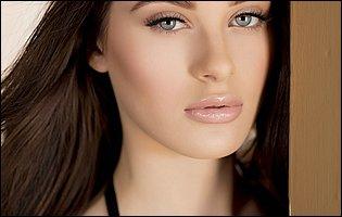 Gorgeous brunette Lana Rhoades in sexy black lingerie posing for camera