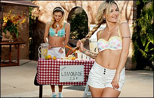 Natalia Starr and Natasha Starr posing for your pleasure outdoor
