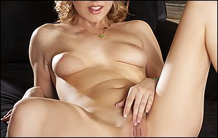 Cute young blonde Lexi Belle loves posing for camera