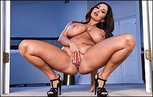 Ava Addams in sexy high heels showing off big boobs and ass