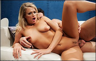 Lusty blonde Heather Starlet gets pussy filled with hard dick