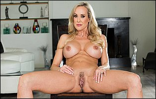 Brandi Love takes off her underwear and shows off twat