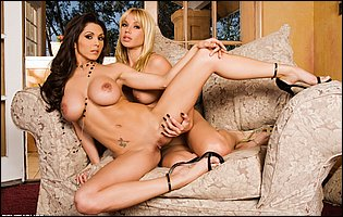 Hot beauties Angie Savage and Taya Parker teasing with hot bodies