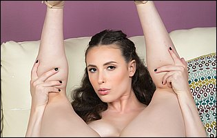 Pretty brunette Casey Calvert teasing with hot body