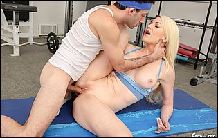 Hot personal trainer Kit Mercer getting fucked by her horny client