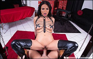 Anissa Kate in sexy fetish outfit getting fucked hard in POV