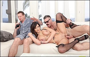 Becky Bandini getting banged in front of her cuckold husband