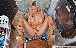 Hot blonde housewife Rachel Roxxx getting fucked