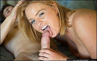 Lusty blonde Krissy Lynn banging a handsome guy