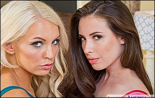 Pretty babes Casey Calvert and Kenzie Taylor posing for you